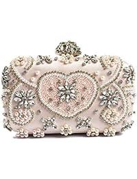 2fe394e163 Mindruer Borsa della Frizione Pochette per Donna con Diamanti in Rilievo  Borsa da Sera in Strass Borsa con Pietre preziose per Banchetti…