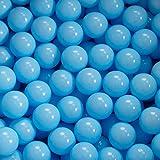 KiddyMoon Kinder Bälle Für Bällebad Baby Plastikbälle 7Cm Made In EU, Baby Blau,100