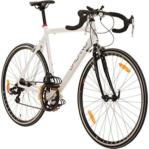Galano 28 Zoll Rennrad Giro D'Italia 3 Rahmengrößen 2 Farben, Farbe:Weiss, Rahmengrösse:53 cm