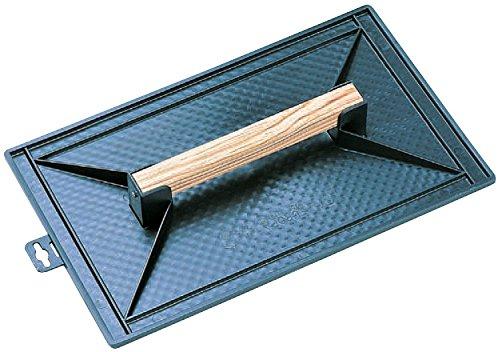 Vinmer 010003 Reibebrett für Maurer, rechteckig, Kunststoff, mit Griff aus Holz, 42 x 26 cm