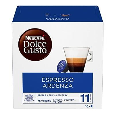 Nescafé Dolce Gusto Espresso Ristretto Ardenza, Strong, 16 Coffee Capsules/Servings