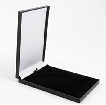 Slim Leatherette Jewellery Gift Box: Satin-lined for Necklace ...