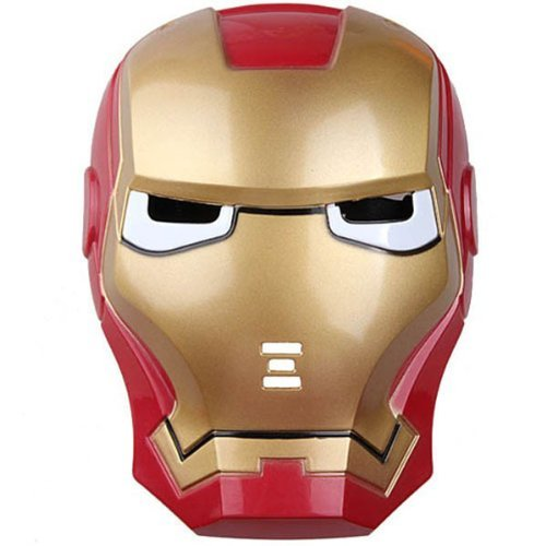 NEW LICENS Iron Man 3 Movie Helmet Toy Maske med LED Light Up Eyes ()