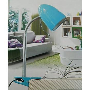 Lampe Nuit Table Lecture De À Bureau Bleu Clipser Souple A Pince OXZN0wkn8P