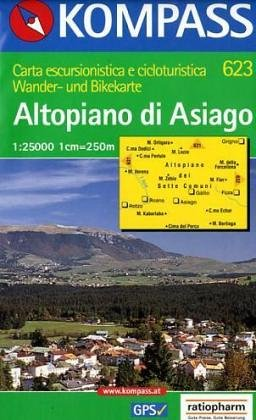 Carta escursionistica n. 623. Altopiano di Asiago 1:25.000