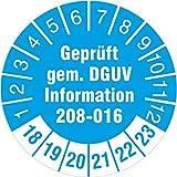 50 Stück geprüft nach DGUV Information 208-016 Prüfetiketten / Prüfplaketten 30 mm rund Leitern und Tritte 2018-23