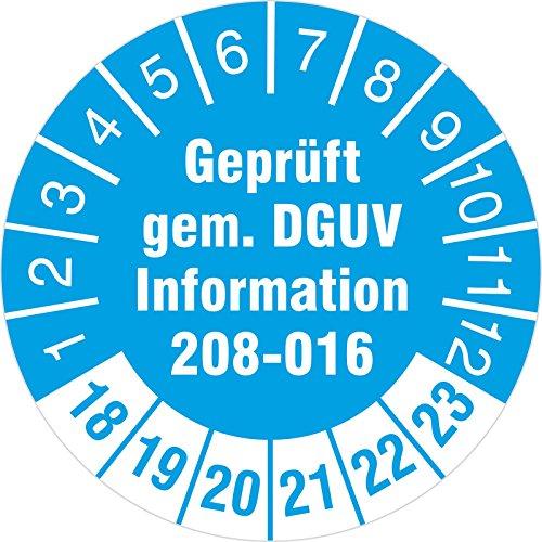 10 Stück geprüft nach DGUV Information 208-016 Prüfetiketten / Prüfplaketten 30 mm rund Leitern und Tritte 2018-23