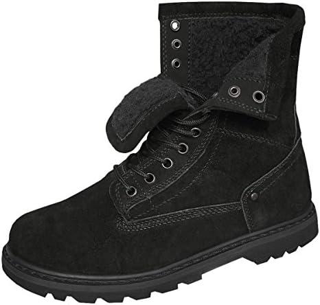 Brandit Gladstone - Botas De Nieve de cuero hombre, color negro, talla 42