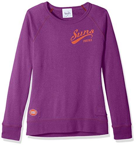 NBA Damen Sweatshirt Atlanta Hawks Dugout Reversible Pullover, Damen, Touch Dugout Reversible Sweatshirt, violett, Medium - Reversible Damen-pullover