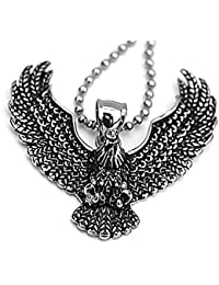 Epinki Edelstahl Herren Halskette Adler Form Anhänger Herrenkette Silber Herren Anhänger