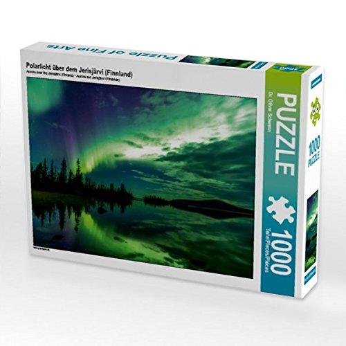 Polarlicht über dem Jerisjärvi (Finnland) 1000 Teile Puzzle quer