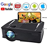 Wireless Projector 2500 Lumen, FAERSI Wifi Led Mini Movie Projector for Home Outdoors