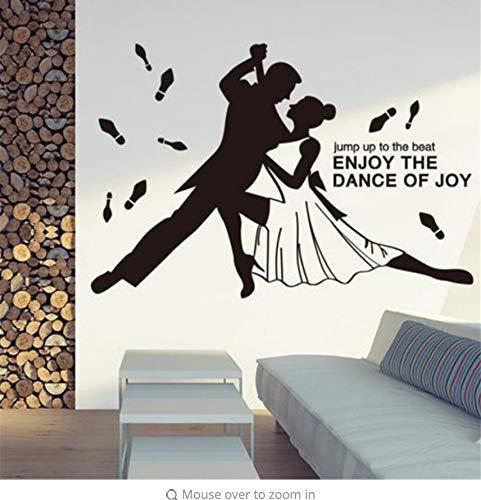 Lsfhb Kundenspezifische Duo Tanz Schauspielerin Wandaufkleber Pvc Material Moderne Diy Wandkunst Für Glas Fenster Wohnzimmer Dekoration 60X89 Cm (Halloween Aus Schauspielerin)