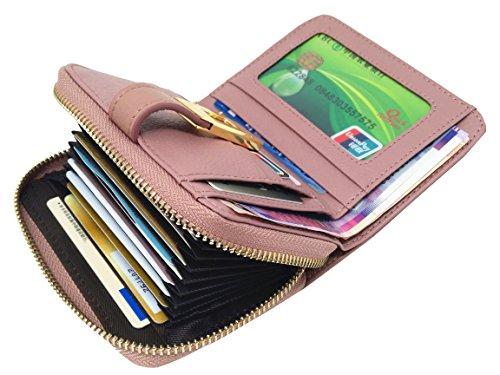 Raccoglitore di corsa della borsa della moneta raccoglitore piccolo supporto della carta di credito del raccoglitore della carta di credito rfid piccolo supporto della carta (Lago blu) Rosa