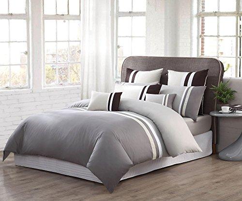 Selected Set di biancheria da letto con federe continentale collezione Premium 100% cotone | 930fili Set di lenzuola e federe, Queen