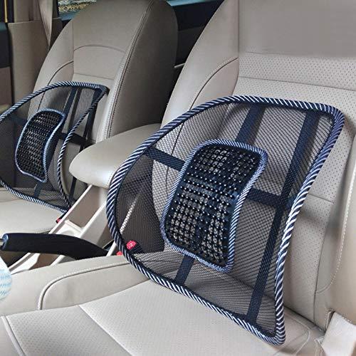NAttnJf Komfortable Sommer Atmungsaktives Mesh Autositz Stuhl Rücken Taille Unterstützung Pad Massagekissen Taille Pad