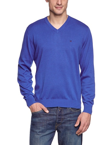 CASAMODA Herren Regular Fit Pullover 004130, Einfarbig Blau (blau 130)