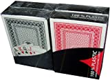 Mühlan 4 x 100% Plastikkarten, Pokerkarten, Poker, nomaler Index, 2 Symbole