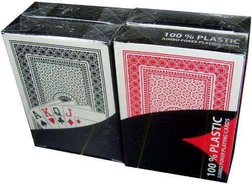 Preisvergleich Produktbild 4 x 100% Plastikkarten,  Pokerkarten,  Poker,  nomaler Index,  2 Symbole