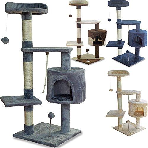 beltom tiragraffi per gatto alto 112 cm parco gioco giochi graffiatoio sisal cuccia albero gatti tira graffi palestra - grigio