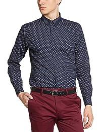 Merc of London 1513208002 - Camisa casual de manga larga para hombre