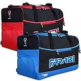 Farabi palestra fitness workout MMA Boxing Holdall Duffle borsa da viaggio (blu)