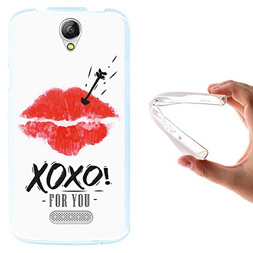 WoowCase Doogee X6 - X6 Pro Hülle, Handyhülle Silikon für [ Doogee X6 - X6 Pro ] XOXO Lippen Handytasche Handy Cover Case Schutzhülle Flexible TPU - Transparent