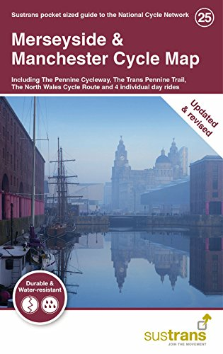 Merseyside & Manchester Cycle Map: Including The Pennine Cycleway, The Trans Pennine Trail, The North West Wales Cycle Route and 4 individual day rides por Sustrans