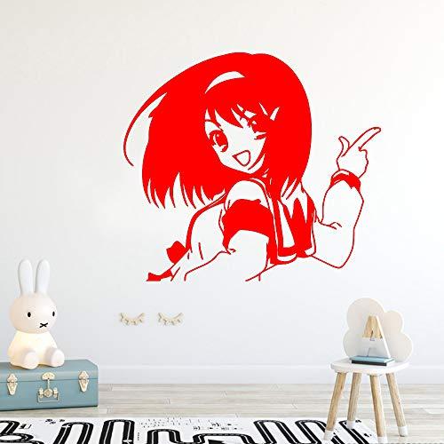 Zaosan Schöne Mädchen Selbstklebende Vinyl wasserdichte Wandkunst Aufkleber Dekoration Wohnzimmer Schlafzimmer abnehmbare Wandkunst Aufkleber (Zoll Bildschirm Visier 7)