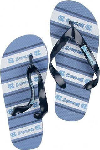 North Carolina Tarheels NCAA Unisex Thematic Striped Flip Flops