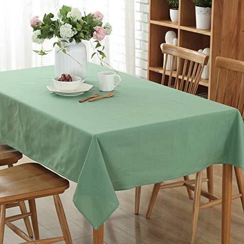 Stillshine tovaglie da tavolo rettangolo cotone e lino, tinta unita moderne cucina resiste all?umidità antimacchia prova di olio tavolino tavolo da pranzo per cene e feste (140 * 250cm,erba verde)