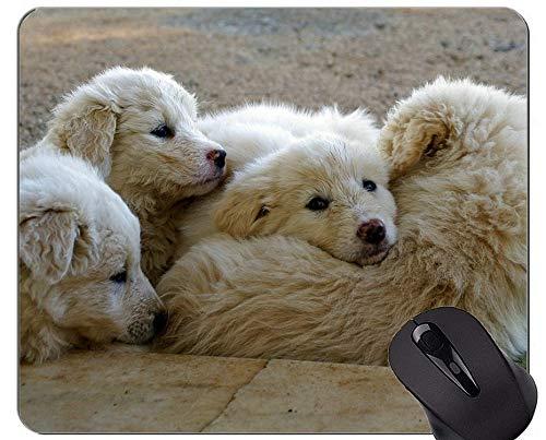Schwarze Schäferhund-Hundemausunterlage, Maremmano-bequeme Mausunterlage für Spiel und Büro
