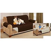 Protezione idrorepellente per mobili, per poltrone e divani a uno, due e tre posti, Chocolate, SOFA COVER