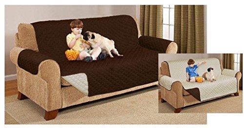 Funda protectora reversible para sillón o sofá de una, dos o tres plazas, chocolate, SOFA COVER