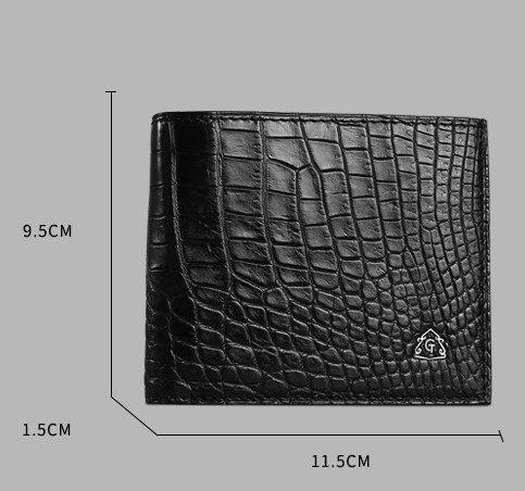 lpkone-Motif Crocodile portefeuilles pour hommes portefeuilles Portefeuille croix d'affaires Black