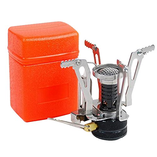 sijueam Outdoor Camping randonnée pliable ultra léger portable Mini brûleur Cuisinière à gaz avec allumage piezo 110 g
