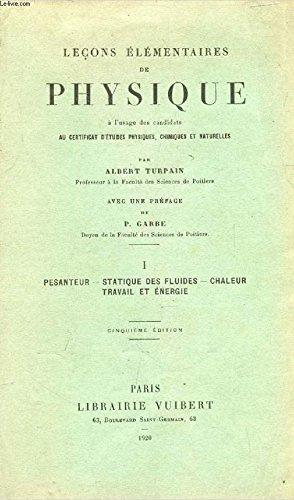 LECONS ELEMENTAIRES DE PHYSIQUE - TOME II : Optique géometrqiue - Etude des vibrations : acoustique - Optique physique - Electricité - Météorologie / 5e EDITION.
