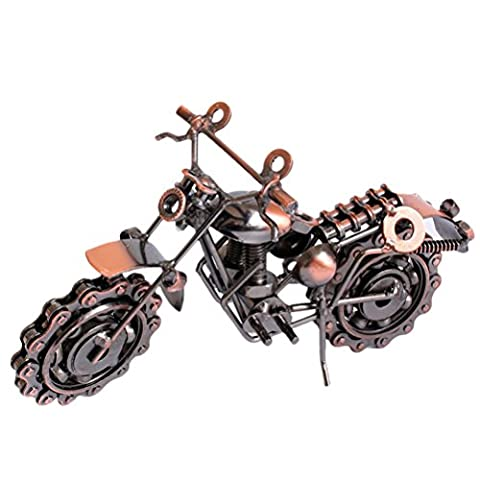 Zhhlaixing Metal Crafts Decoration Home Furnishings Large Iron Motorcycle Model Creative Gifts for child