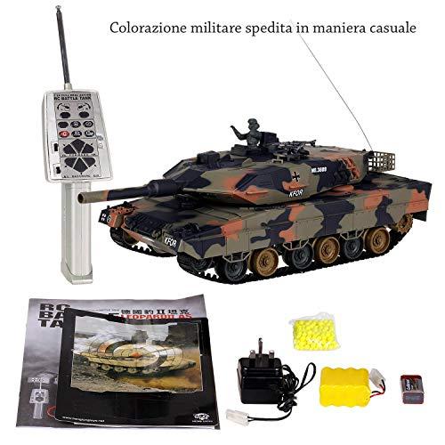 DOBO Carro Armato Militare radiocomandato rc torretta spara Davvero Professionale Giocattolo Hobby Giochi