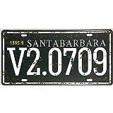 DL-SANTABRBARA V2.0709 Letrero metálico matrícula Tin Tin placa decorativa garaje Regalos Decoración de pared