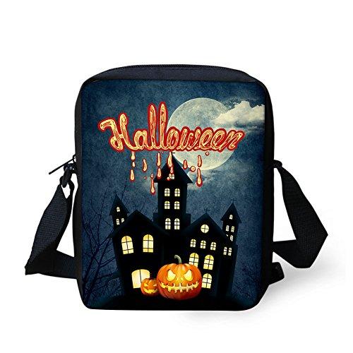 CHAQLIN Borsa Messenger, Halloween Pumpkin (nero) - CHAQLIN Haunted House