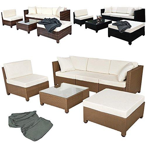 Tectake Luxury Rattan Aluminium Garden Furniture Sofa Set