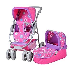 Knorrtoys Pink Splash Silla de Paseo de Juguete - Accesorios para muñecas (Silla de Paseo de Juguete, Rosa, 1 Asiento(s), Niño, Chica, 550 mm)