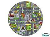 Stadt Mix HEVO® Strassen Spielteppich | Kinderteppich 160 cm Ø Rund
