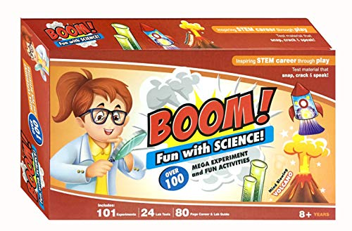 Boom Fun with Science Lab Kit 101 Experiments Fun Activities 24 Lab Tools Inspiring stem Career Through Play Volcano
