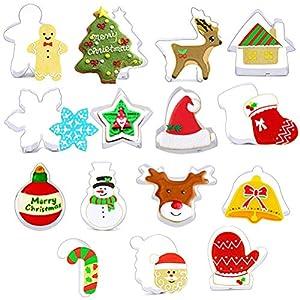 ZSWQ Moldes para Galletas Navidad,15