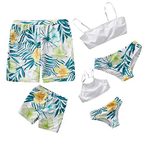 tfit, Papa und Sohn Mama und Tochter Zwei Stück Bikini Badeanzug Matching Familie Kleidung Sets Blume Drucken Strandmode Bikini-Sets Badehose Für die Ganze Familie ()