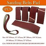 5 bandas abrasivas para lijadora de cinta//correas abrasivas.