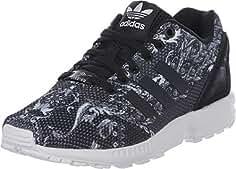 sneakers for cheap 667ca 9c334 ZAPATILLA ADIDAS ZX FLUX W ESTAMPADA NEGRA CON TALONERA NEGRA (37 1 3)