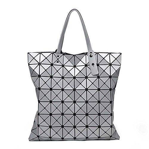 Damenmode Geometrische Umhängetasche Einfache Hand Falttasche Silver